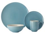 Maxwell & Williams Colour Basics Coupe Dinner Set - Sky (16 Piece)