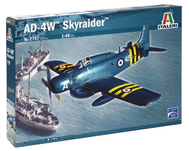 Italeri: 1/48 AD-4W Skyraider - Model Kit