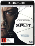 Split on Blu-ray, UHD Blu-ray