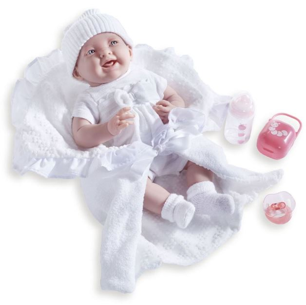 La Newborn - Soft Body Baby Doll with White Bunting (39cm)