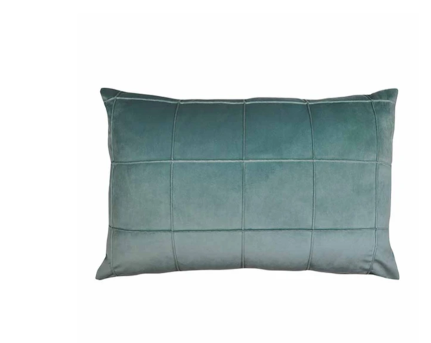 Madras Link: Seattle Seafoam Velvet Cushion
