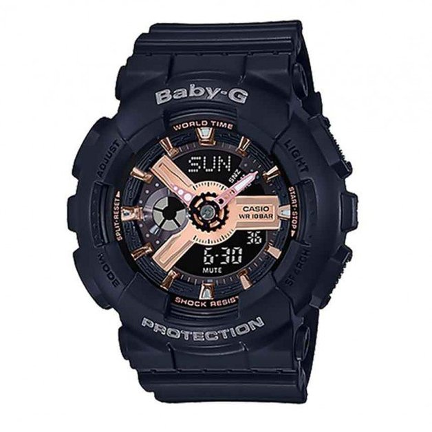 Casio Baby-G Pink Gold Watch BA110RG-1A