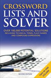 Crossword Lists & Crossword Solver by Anne Stibbs Kerr