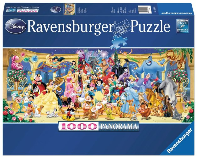 Ravensburger 1000pc Jigsaw Puzzle - Disney Characters Panorama