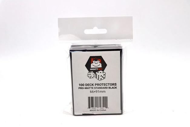 Mighty Ape Deck Protectors Pro-Matte Standard Black (100)