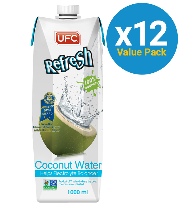 UFC Refresh 100% Natural Coconut Water - 12x1L
