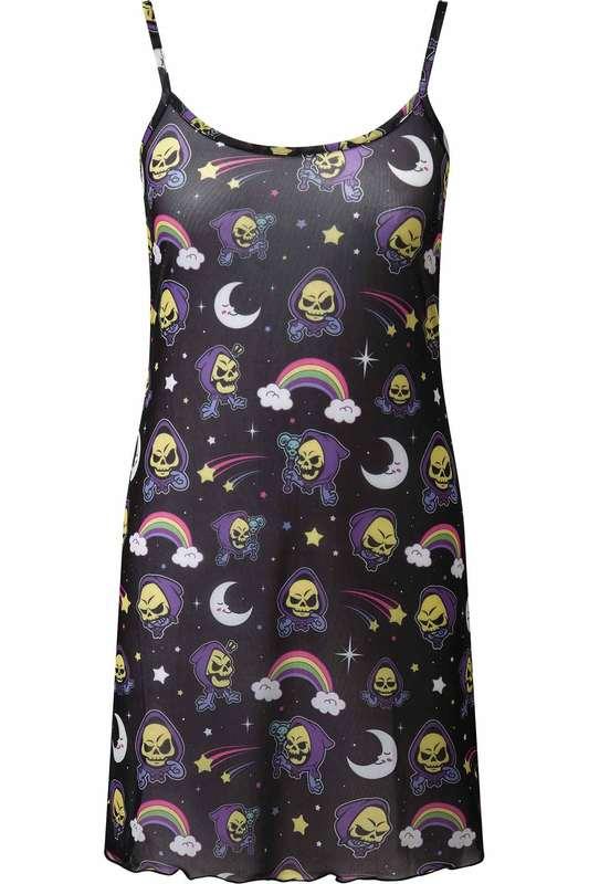 Killstar: Not Cute Mesh Dress - L / Black