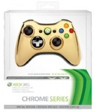 Xbox 360 Gold Special Edition Chrome Wireless Controller for Xbox 360