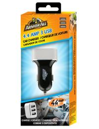 Armor All: 4.4Amp 3 Port Car Charger image