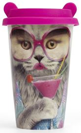 Coffee Crew: Reusable Coffee Cup - Cat