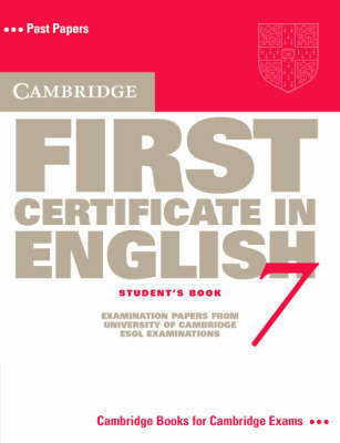 Cambridge First Certificate in English 7 Student's Book by Cambridge ESOL image