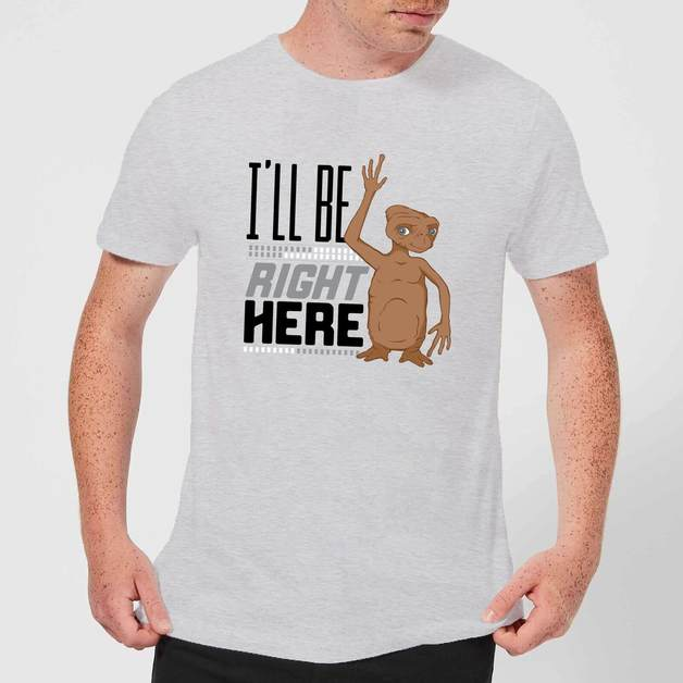 ET: I'll Be Right Here T-Shirt - Grey/XX-Large