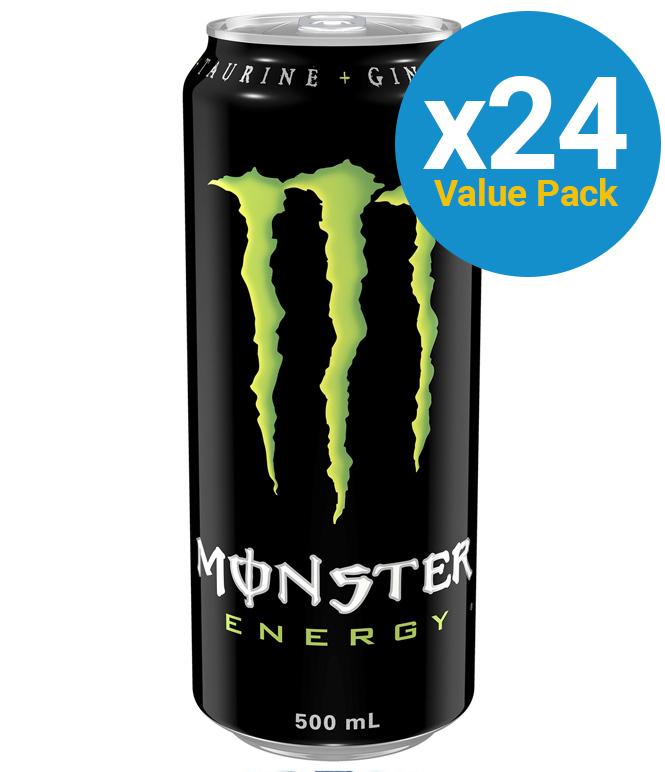 Monster Energy Drink 500ml (24 Pack) image