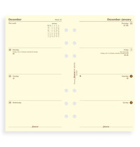 Filofax: Personal 2021 Refill - Week on Two Pages - Cotton Cream (Unlined)