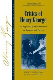 Critics of Henry George: v. 2 image