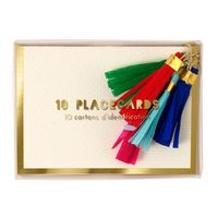 Tassel Placecards - Set of 10