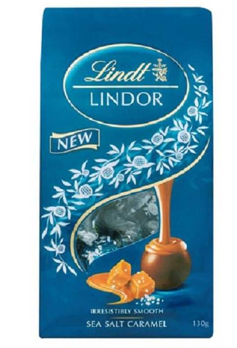 Lindt: Lindor - Sea Salt Caramel Bag (130g)