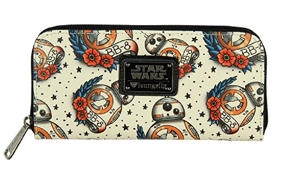 Loungefly Star Wars BB-8 Tattoo All Over Print Wallet image