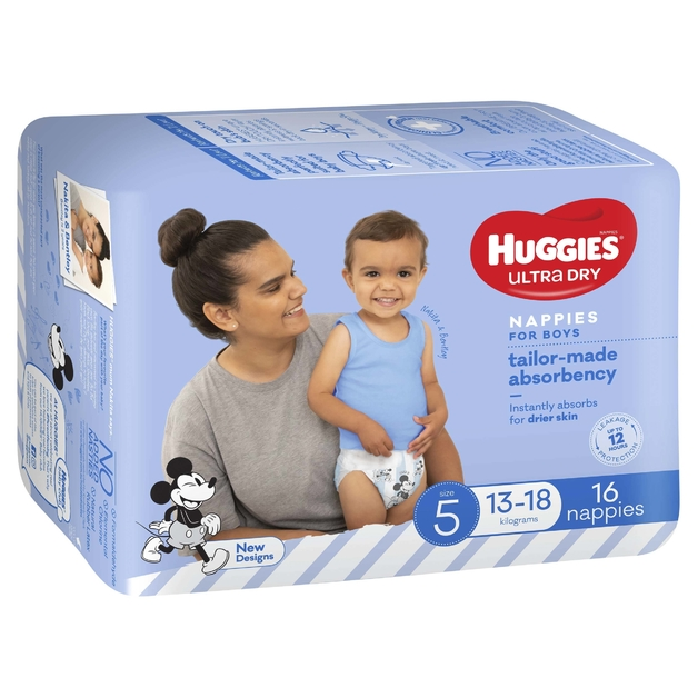 Huggies Ultra Dry Nappies - Size 5 Walker Boy (16)