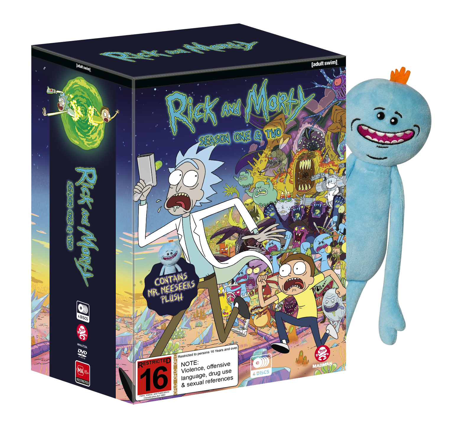 Rick And Morty Season 1 amp 2 DVD Buy Now At Mighty Ape NZ