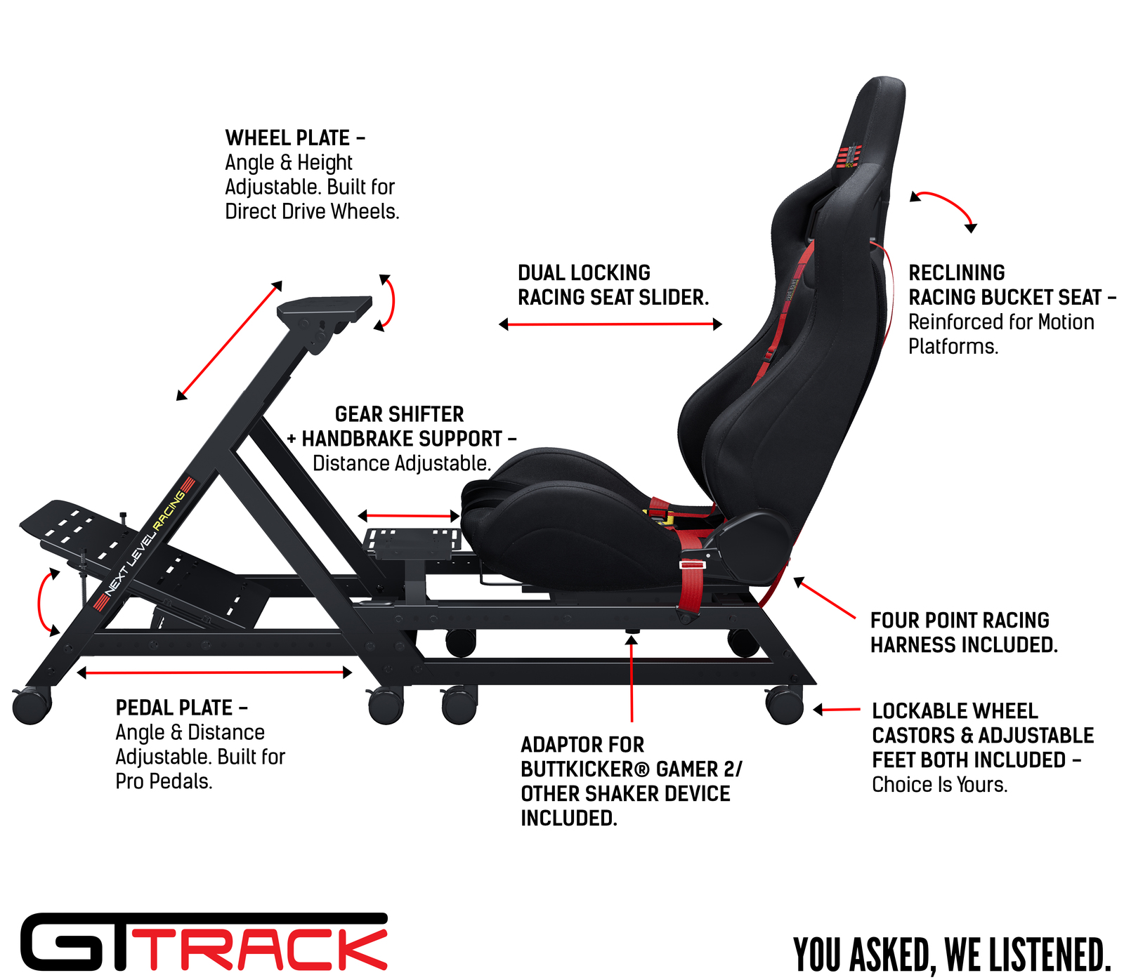 Next Level GT Track Simulator Cockpit for  image