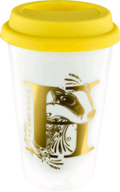 Harry Potter : Hufflepuff Foil Logo Keep Cup