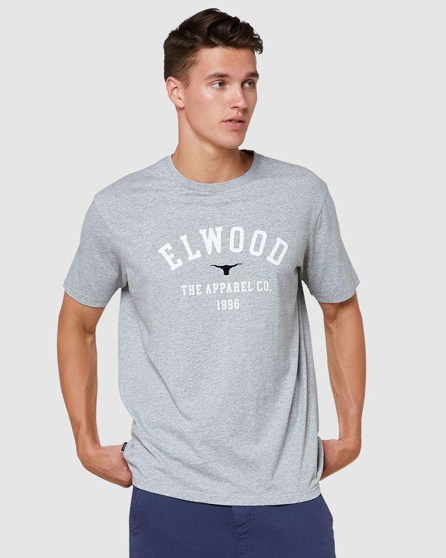 Elwood: Mens Jackson Tee - Grey Marle (Medium)
