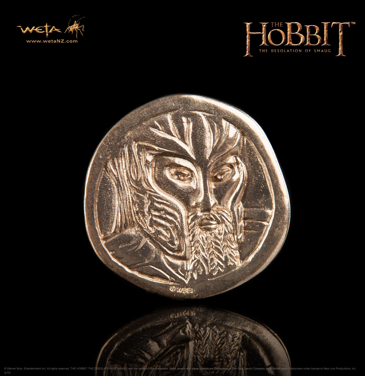The Hobbit: Desolation of Smaug Treasure Coin #3 - by Weta image