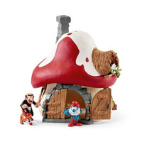Schleich: Smurf House with two figures