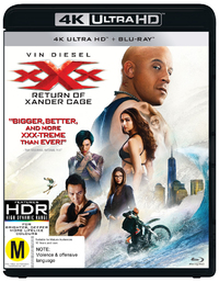 xXx: The Return Of Xander Cage on Blu-ray, UHD Blu-ray