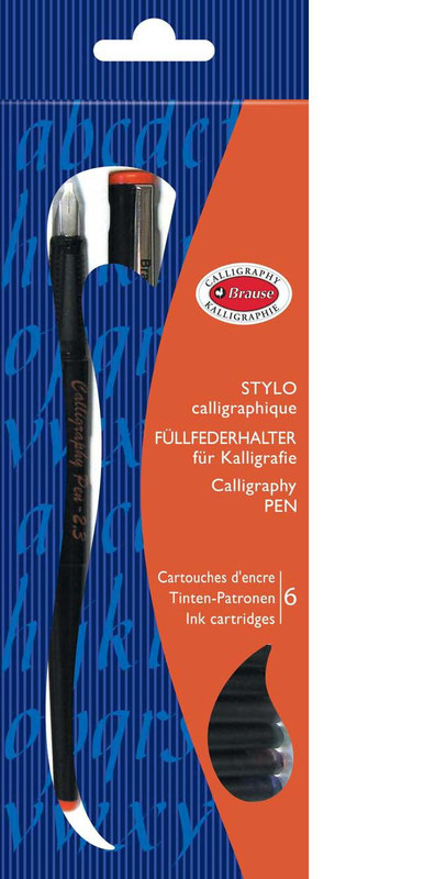 Brause: Calligraphy Pen - 1.5mm Nib and 6 Cartridges