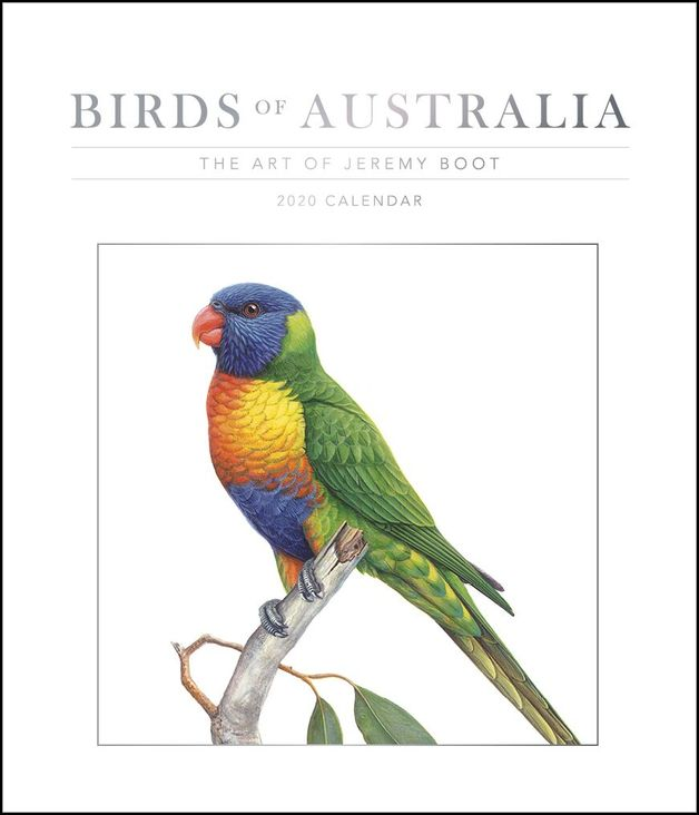 Birds of Australia, The Art of Jeremy Boot 2020 Deluxe Wall Calendar