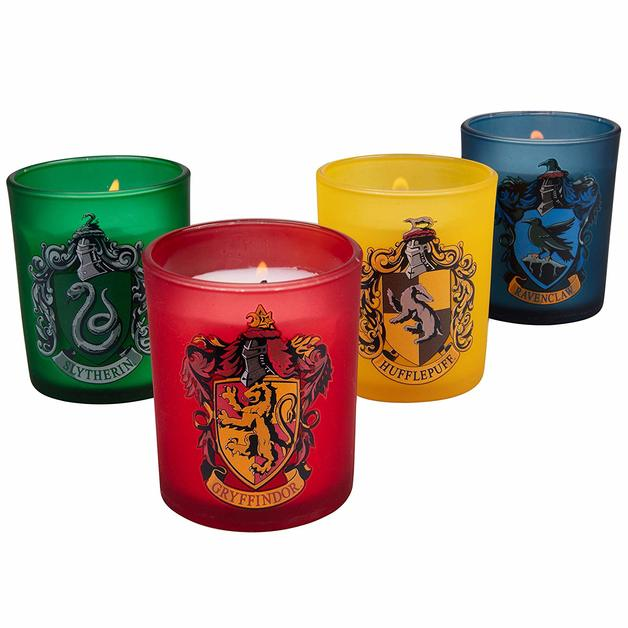 Harry Potter: Houses Of Hogwarts Glass Votive Candle Set