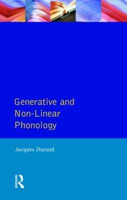 Generative and Non-Linear Phonology by Jacques Durand image
