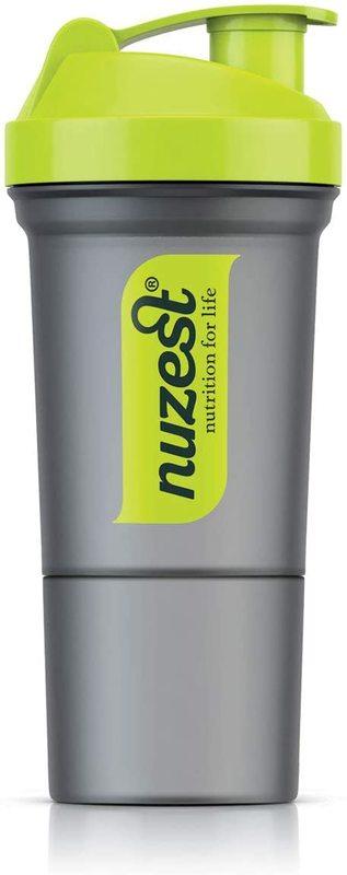 Nuzest Slim Protein Shaker - Grey/Green (350ml)