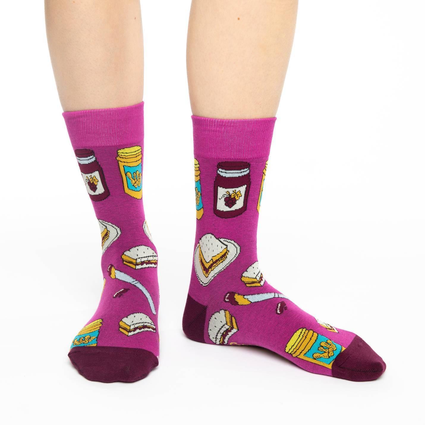 Women's Peanut Butter & Jam Socks - Shoe Size 5-9 image