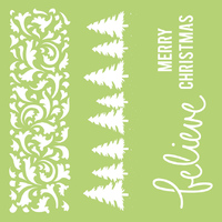 Kaisercraft: 12x12 Designer Template Christmas Borders