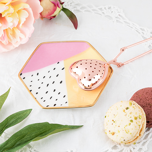 Pinky Up: Heart Tea Infuser - Rose Gold