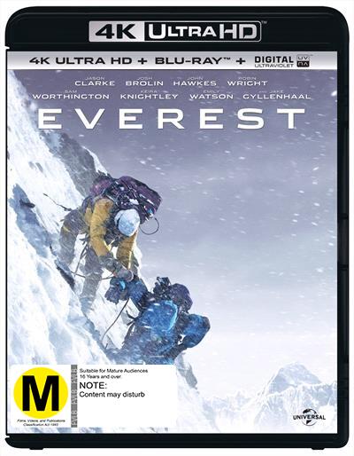 Everest on Blu-ray, UHD Blu-ray