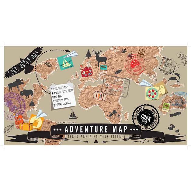 Adventure map cork world map at mighty ape nz adventure map cork world map gumiabroncs Choice Image