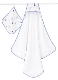 Aden + Anais: Muslin-Backed Hooded Towel Set - Rock Star image