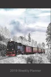 Plan on It 2019 Weekly Calendar Planner - Choo Choo Locomotive Train in the Winter by Nine Forty Publishing image