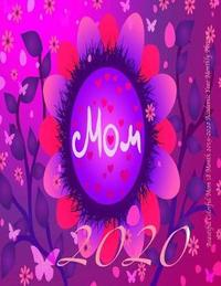 Beautiful Colorful Mom 18 Month 2019-2020 Academic Year Monthly Planner by Laura's Cute Planners