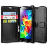 Spigen Wallet S Case for Galaxy S5 (Black)