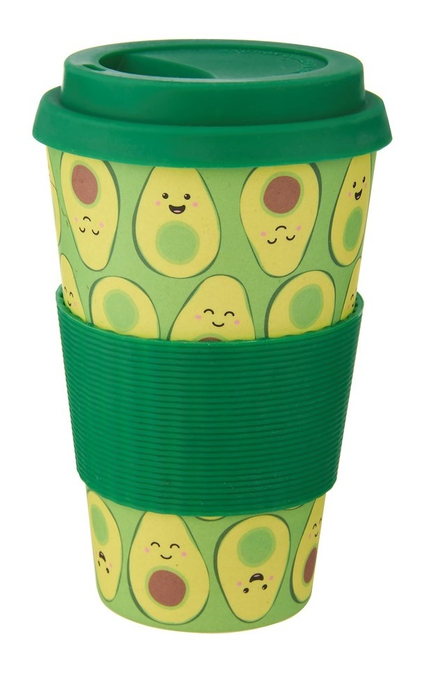 Sass & Belle: Happy Avocado - Bamboo Coffee Cup (400ml) image