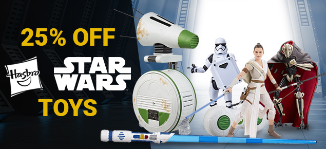 25% off Hasbro's Star Wars Toys!