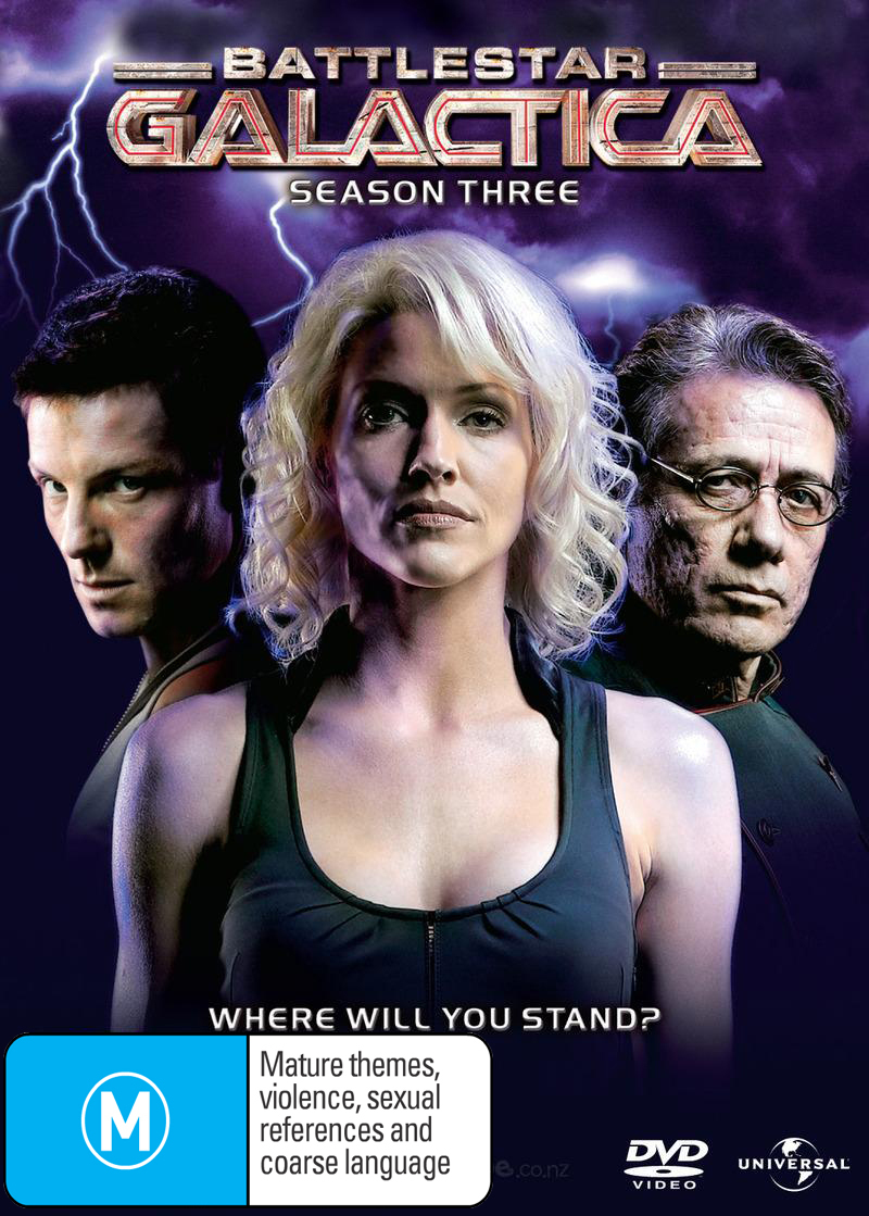 Battlestar Galactica 2006  - Season 3 (5 Disc Slimline Set) on DVD image