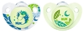 NUK: Glow in the Dark Soother - 0-6 Months (2 Pack) - Green