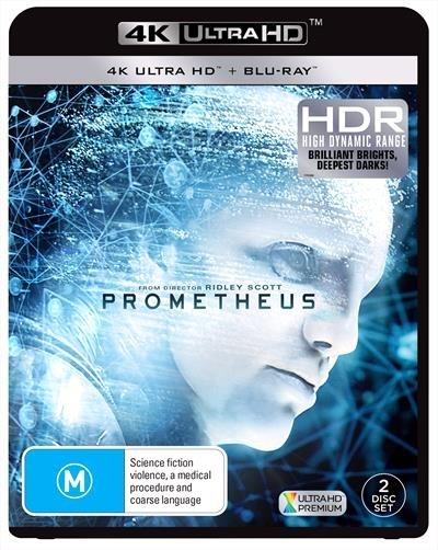 Prometheus on Blu-ray, UHD Blu-ray