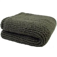 Bambury Chunky Knit Throw (Olive)